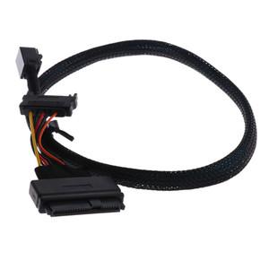 0.5m 1.5ft Mini SAS HD SFF-8643 to U.2 SFF-8639 Cable Cord with SATA power