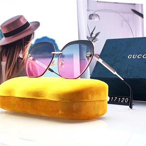 Luxo sem aro dos óculos de sol Designer extragrandes Sunglasses Moda Womens marinhos Lense óculos polarizados Óculos Outdoor Adumbral Com Box