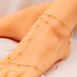 moda mini sfera di metallo delle donne cavigliere caviglia 12pcs Catena