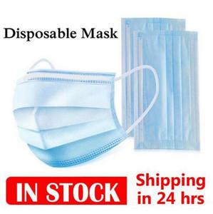 Auf Lager Einweg-Gesichtsmaske 3-Schicht-schützende Schablonen Breathgesicht Staub auf Lager Maske staubdichte Masken 3Ply Non-Woven-Masken