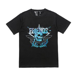 Lettered VLon Schädeldruck Kurzarm-T-Shirt 2020 populäre Marke runder Ausschnitt T-Shirt Taobao