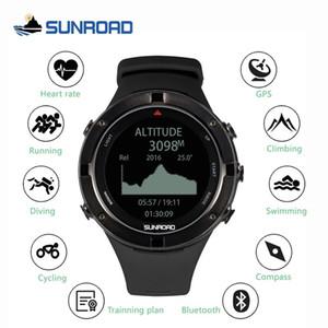 ritmo cardíaco SUNROAD inteligente GPS altímetro del reloj digital de los deportes al aire libre para los hombres corriendo maratón de triatlón brújula CJ191213 reloj de la natación