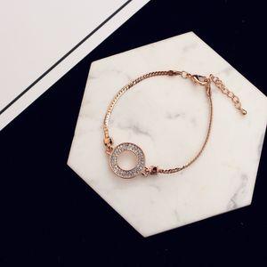 New luxury 18k gold plated classic ring bracelet fashion zircon temperament ladies bracelet jewelry Valentine's Day gift jewelry