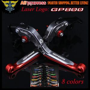 Laser Logo RedTitanium CNC déployante réglable Extendable moto frein d'embrayage pour GILERA Levers GP 800 GP800 2007 2008 2009