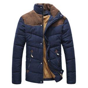 Jacket DIMUSI Agasalho Homens Quente Causal Parkas Cotton Banded Collar Jacket Inverno masculino acolchoado Sobretudo Casacos, YA332