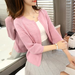 New Women Sweater Spring 2019 Autumn Winter Fashion Elegant Peach Embroidery Slim Girl's Knitted Cardigans Tops Female Cardigan