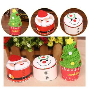 30x30 سنتيمتر مصغرة لطيف الاحتفال كعكة النمذجة القطن منشفة سانتا كلوز ثلج شجرة عيد الميلاد الآيس كريم الهدايا الإبداعية هدية