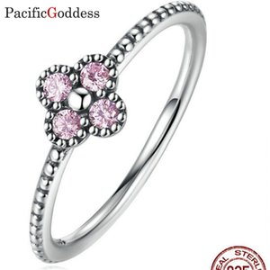 wholesale Authentic 925 Sterling Silver Finger Rings for Women Sterling Silver Jewelry red stone sharp rings bijou