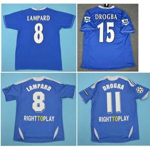 Thai 03 04 05 Lampard Retro pullover 2012 Classic Vintage 2003 2004 camicia di calcio 2005 Jersey di calcio di Drogba Terry maillot de foot