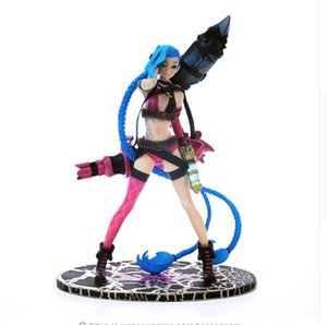 "LOL 10 ""24 cm Jinx Action Figures لعبة Anime PVC Model Collection Toys"