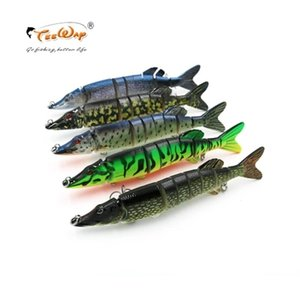 Goture Multi-Jointed Pike señuelos de pesca 20Cm 65G 8Colors Artificial Pike Bait señuelo duro Swimbait accesorios de pesca