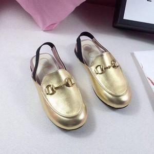Üst Kalite Bebekler Sandalet Tasarımcı Çocuk Sandalet Satılık 5 renk Bebek Kız Sandalet Yaz Gerçek Deri Çocuklar ayakkabı
