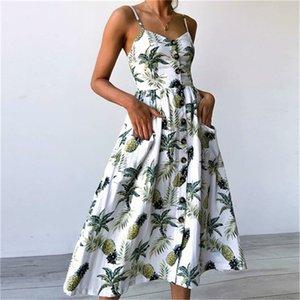 5DlL8 verano de las mujeres mujeres suaves s casual Lluxury vestidos de verano vestidos de mujer Sea Beach largo del estilo de Cutton Diseñador Blend y Dres cómodo