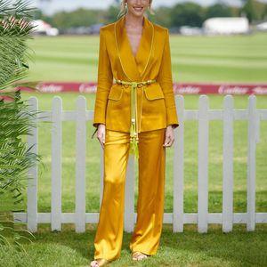 Tide  Fashion Suit Woman 2019 Autumn New Pattern Solid Color Leisure Time Small Suit Loose Coat Wide Leg Pants