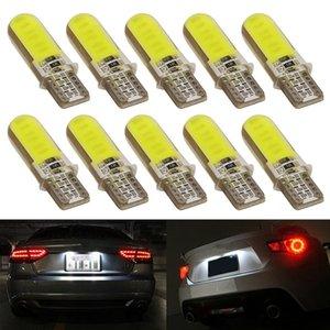 10PCS 6500K blanc T10 W5W lumière LED intérieur de la voiture 12SMD gel de silice COB 12V côté Wedge stationnement Dôme ampoule canbus style voiture auto