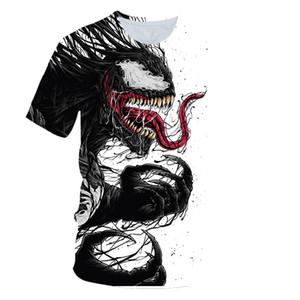 Brand Fashion cool t shirt Men Women Movie Movie Venom 3D Printed T-shirts Short Sleeve Harajuku Style Tshirt Streetwear Tops