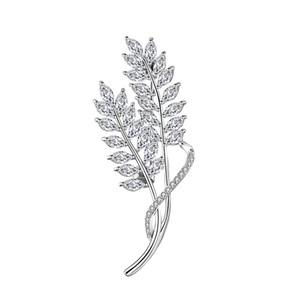 Muhteşem Ve Güzel Broş Bakır Yapılan Önemli Zeytin Yaprakları Mizaç Broş Pins Düğün Takı Yüksek Kalite