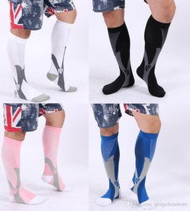 2019 Men Women Anti Fatigue Compression Stocking Leg Warmers Slimming socks Calf Support Relief sport running bicycle socks 5 colors
