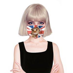 Новый дизайнер 3D маска для лица, Лицо анти пыль хлопчатобумажная ткань маски с 2шт PM2. 5 сменный фильтр флаг шаблон DHA27