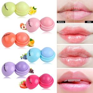Круглый шар Smooth Lip Balm Фруктовый сладкий вкус Органические Lipstick Увлажняющий Питательный Увлажняющий Chapstick Сфера Губы Макияж DHL бесплатно