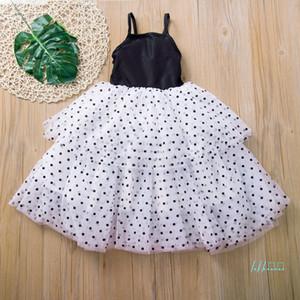 Druck Mädchenkleid Baby-Mesh-Gazespitze Punkt Pettiskirt Mädchen-Rock-Prinzessin-Kleid-Sommer-Party-Rock-Ballkleid 80-120cm CZ430