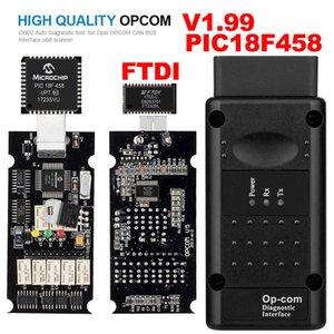 Opel OPCOM V1.99 с PIC18F458 FTDI Op-com OBD2 Автоматический диагностический сканер OBD OP COM CAN BUS Интерфейс Комплект программного обеспечения Обновление USB