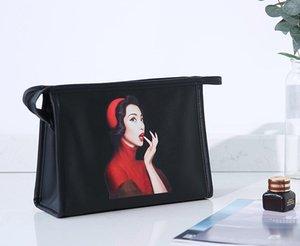 2020 Women Wash Bag Handbags Large Capacity PU Waterproof Pattern Cosmetic Bag Ladies Portable Travel Storage Bags