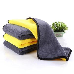 Nueva lateral doble Car Wash Lavado toallas de microfibra de secado toalla gruesa felpa de poliéster de fibra de coches paño de limpieza Auto Care HHA162
