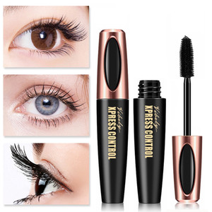 VIBELY Xpress Control 4D Silk Fiber Eyelash Mascara Waterproof Lengthening Volume Curling Maskara Long Lasting Eye Lashes Makeup