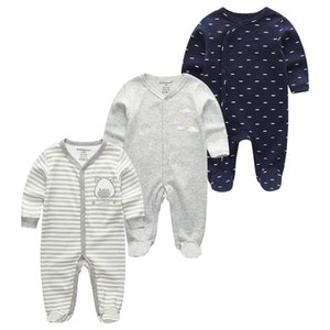 Long Sleeve Girls Baby Rompers Cotton 2 3Pcs sets Newborn Body Suit Baby Pajama Boys Animal Rompers