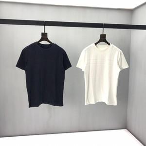 2020ss primavera y el nuevo algodón de alto grado del verano impresión de manga corta ronda panel de cuello de la camiseta Tamaño: M-L-XL-XXL-XXXL Color: negro Q62 blanco