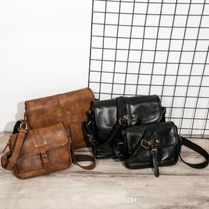 Fabrik Großhandel Marke Mode Tasche Männer Crazy Horse Leder Vintage Umhängetasche Leder Umhängetasche einfache Sommer Freizeit