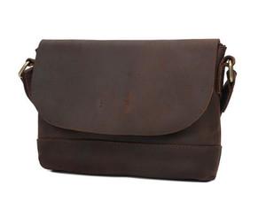 La bolsa de diseñador de los hombres con el bolso retro solo hombro, Slant creado originalmente bolsa, Nueva principal de la capa de cuero de vaca Mad mujeres de cuero de caballo