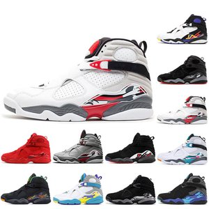 Nike Air Jordan Retro 8 8s Jumpman 8s 8 Scarpe da pallacanestro da uomo Conte conto alla rovescia Aqua White 3M Bug riflettenti Bunny San Valentino Sneakers sportive SPIAGGIA