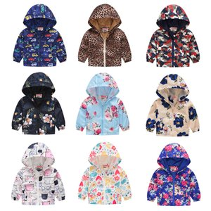 39 Styles Kids Cartoon Printed Hoodies 2020 Ultra-thin breathable Coats Baby Boys Girls Zipper Outwear Sun Protection Clothing Jackets M366