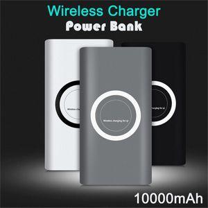 Qi Wireless caricabatteria 10000mAh batteria della Banca di potere Adattatore di ricarica veloce per Samsung Note S8 iPhone 8 iphone X XR XS con la scatola di vendita al dettaglio