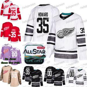 35 Jimmy Howard 2019 All Star Detroit Kızıl Kanatları Gustav Nyquist Andreas Athanasiou Tyler Bertuzzi Frans Nielsen Larkin Anthony Mantha Forması