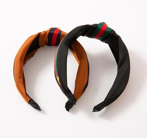 European and American wind knotted headband wide-brimmed fabric bee hair band women's headband hairpin headdress hot