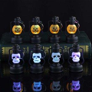 파티 바 베드룸 홈 축제 액세서리 할로윈 휴대용 호박 얼굴 해골 LED 조명 램프 점멸 장식 LED 밤 빛
