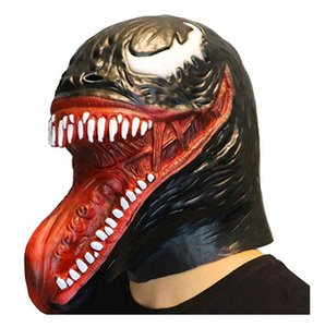 Spider-Man's Mascot of Terrorist Toxicity Full-Headed Latex Clothing Mask Halloween Headscarf Latex Snake-Head Mask Supplementary props