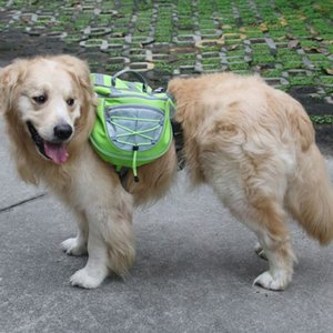 Pet Jewelry Waterproof Adjustable Polyester Pet Backpack Dog Saddle Bag Suitable For Large Dog Hiking Dog Houses & Kennels Accessories