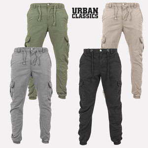 4 colori nuovi Mens dei pantaloni Sport Slim Pantaloni felpa Workwear Casual pantaloni larghi Multi-pocket Mens alla moda pantaloni