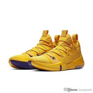 Мужские zk Bryants ad 12 баскетбольная обувь команда Красный желтый черный золотой белый розовый Кири Ирвинг Леброн Джеймс кроссовки сапоги с коробкой размер 7 12
