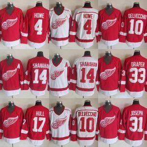10 Alex Delvecchio Detroit Red Wings 33 Kris Draper 31 Curtis Joseph 14 Brendan Shanahan 17 Scafo 4 Gordie Howe Hockey Jersey