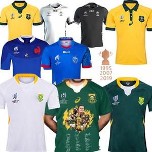 Güney Afrika forması RWC Avustralya fiji Samoa nrl formaları erkekler 2019 Rugby Ligi gömlek Rugby Dünya Kupası şampiyonu