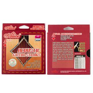 One Set Acoustic Guitar Strings for Alice AW-463 Full Set Guitar Strings 011-052