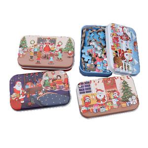 Noel Ahşap Puzzle Çocuk Oyuncak Noel Baba Eğitim Toy Çocuk Yılbaşı Hediyeleri Eğitim DIY Ahşap Puzzle 60 adet / KKA7584 set
