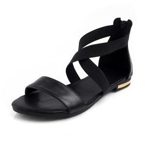 MORAZORA 2019 Couro Genuíno Das Mulheres Sandálias Venda Quente de Moda Verão Doce Mulheres Apartamentos Sandálias de Salto Senhoras Sapatos Pretos