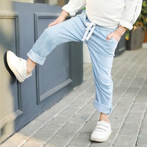 2020 best selling boys' soft thin jeans Tencel pants spring and autumn children's clothing baby mosquito proof pants