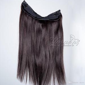 Малазийский Straight Флип В расширениях Halo волос 10 до 30 дюймов 120g Halo Remy Lady выдвижений человеческих волос